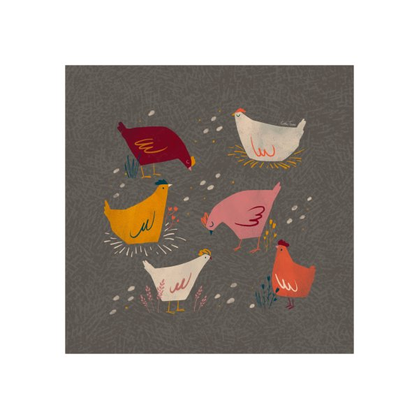 image for Colorful hens autumn pattern