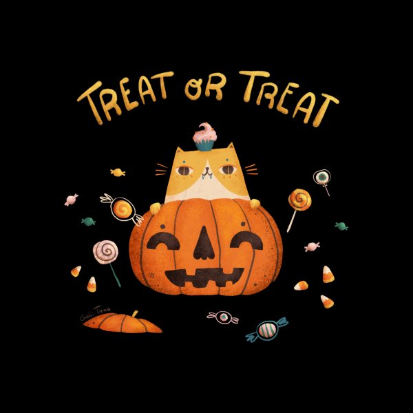 image for Trick or treat candy cat