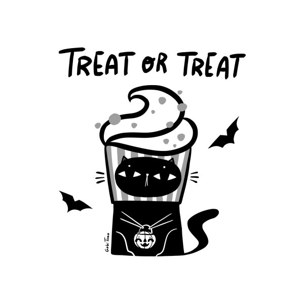 image for Trick or treat Halloween black cat
