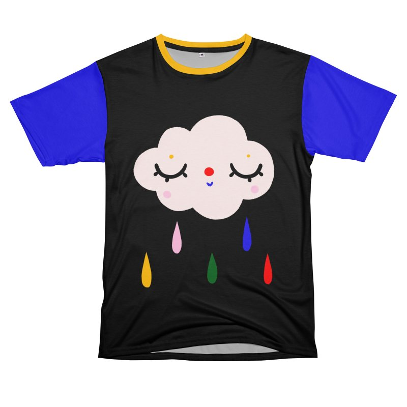 Cute cloud with raindrops Men's Cut & Sew by Gabi Toma's Artist Shop