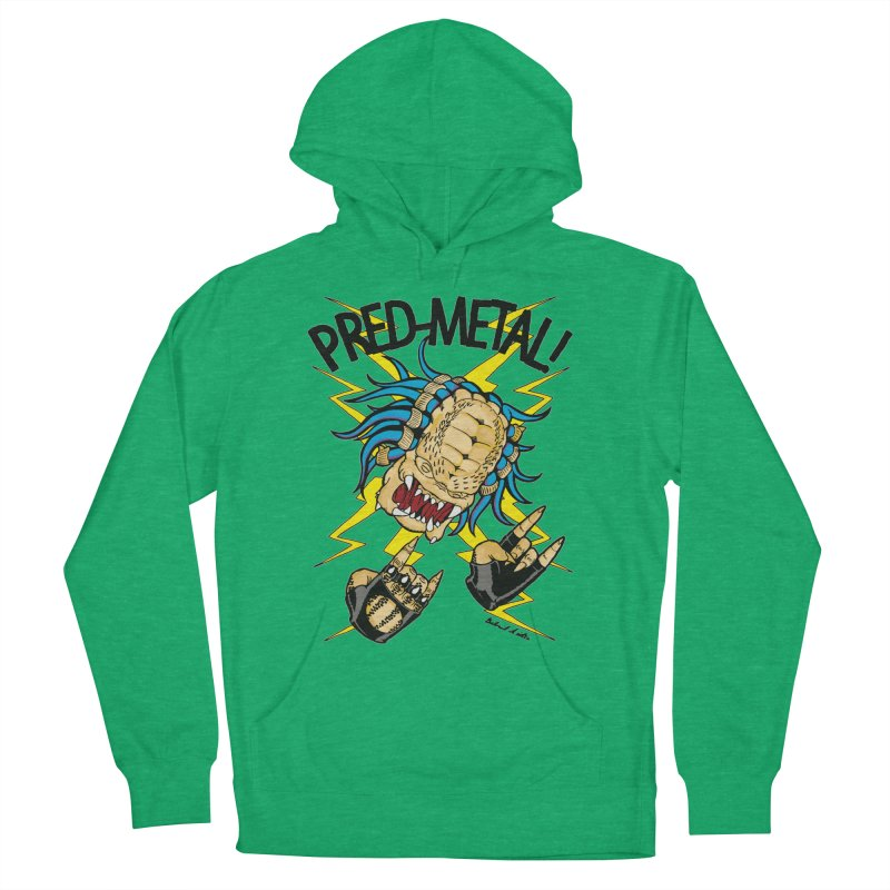 PRED-METAL Men's French Terry Pullover Hoody by Gabriel Dieter's Artist Shop