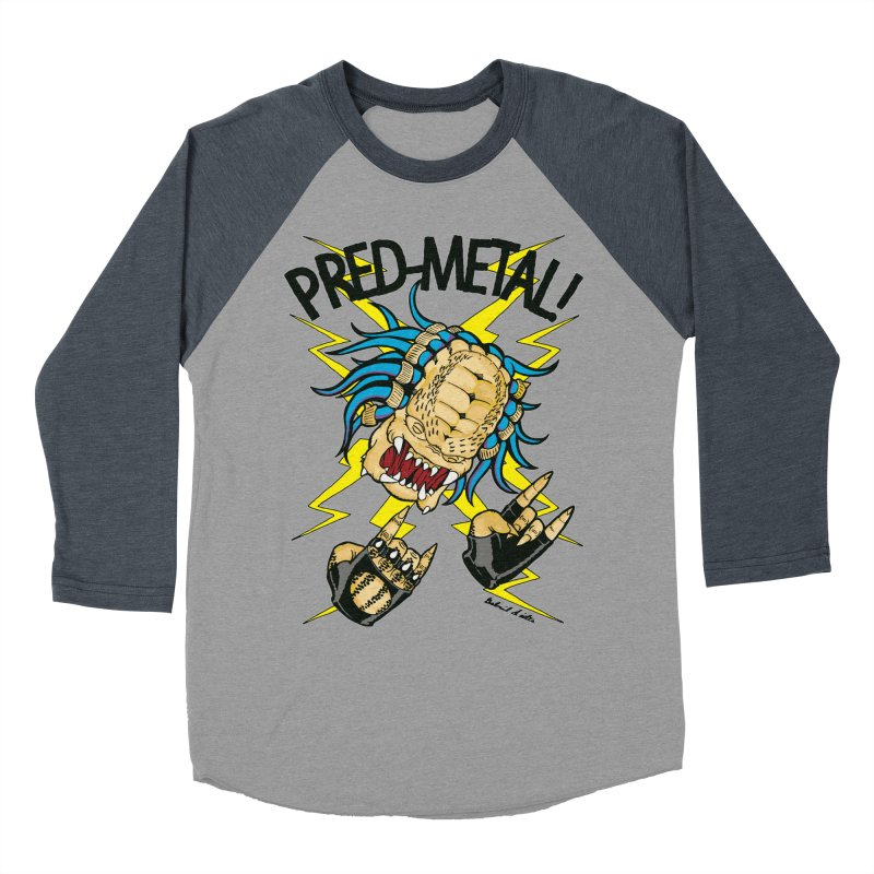 PRED-METAL Women's Baseball Triblend Longsleeve T-Shirt by Gabriel Dieter's Artist Shop