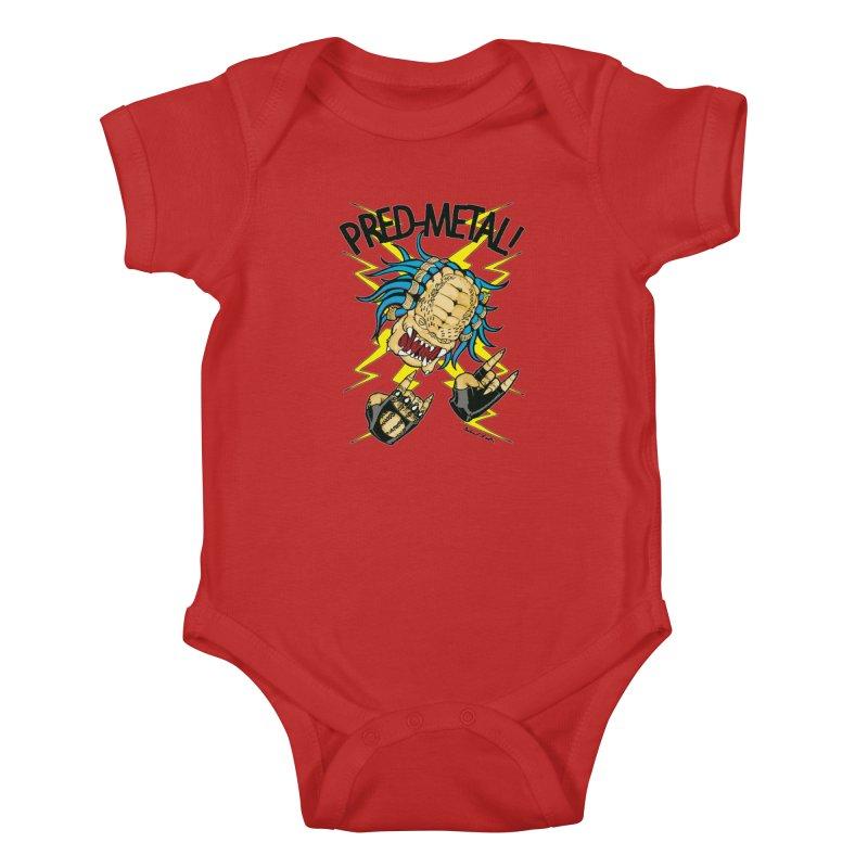 PRED-METAL Kids Baby Bodysuit by Gabriel Dieter's Artist Shop