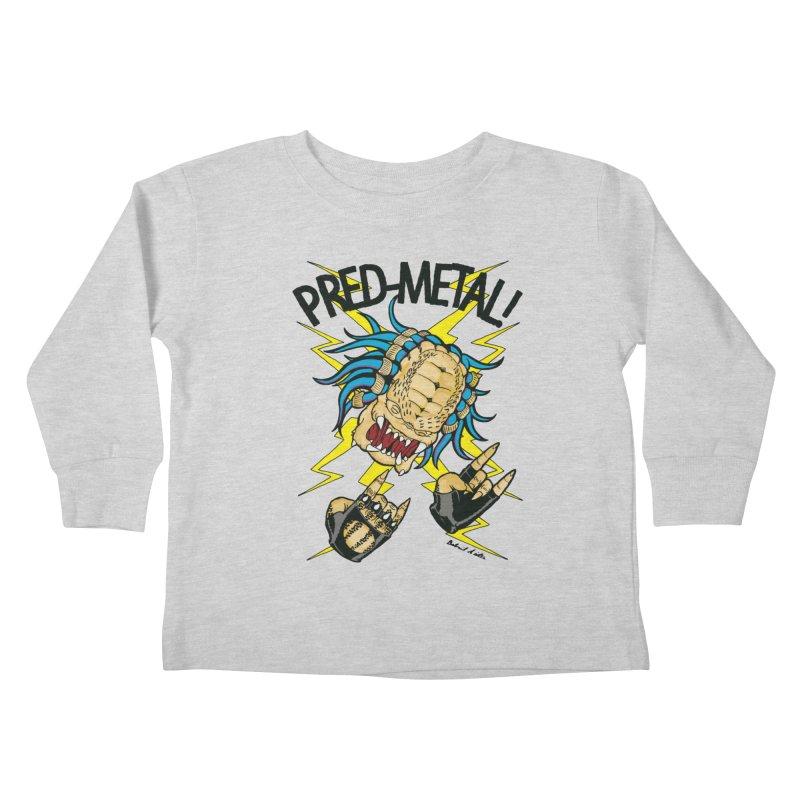 PRED-METAL Kids Toddler Longsleeve T-Shirt by Gabriel Dieter's Artist Shop