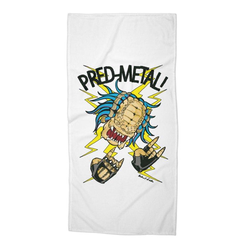 PRED-METAL Accessories Beach Towel by Gabriel Dieter's Artist Shop