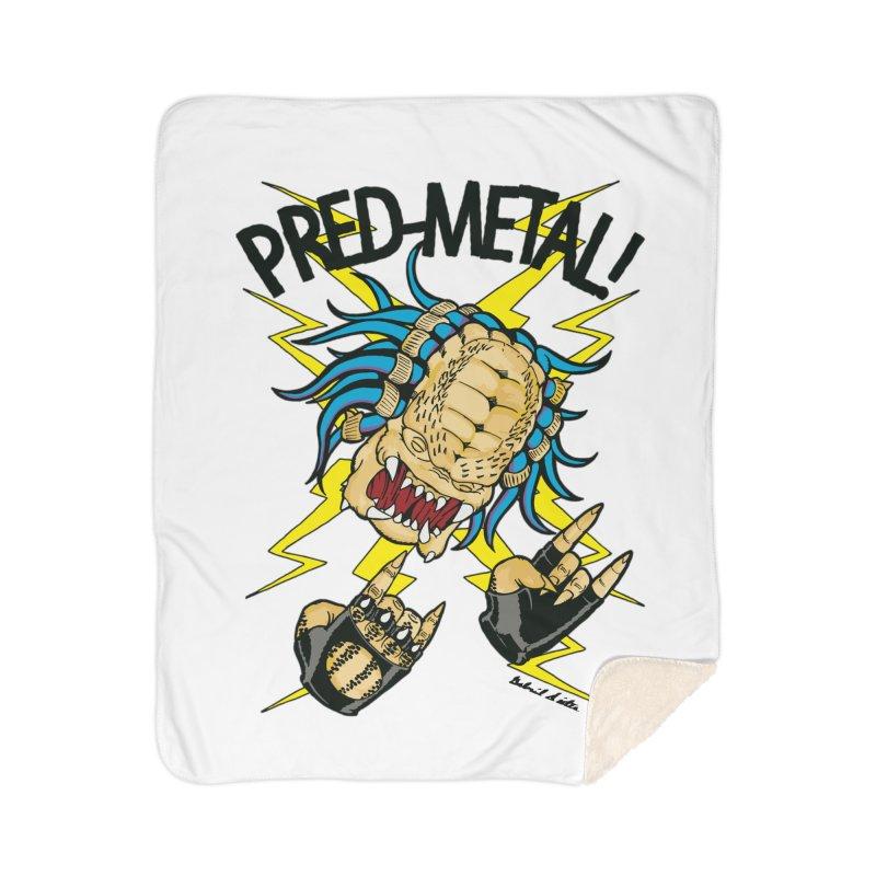 PRED-METAL Home Sherpa Blanket Blanket by Gabriel Dieter's Artist Shop