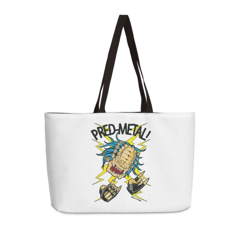 PRED-METAL Accessories Weekender Bag Bag by Gabriel Dieter's Artist Shop