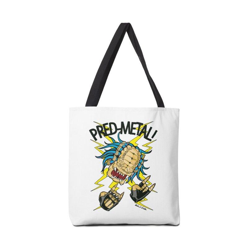PRED-METAL Accessories Tote Bag Bag by Gabriel Dieter's Artist Shop