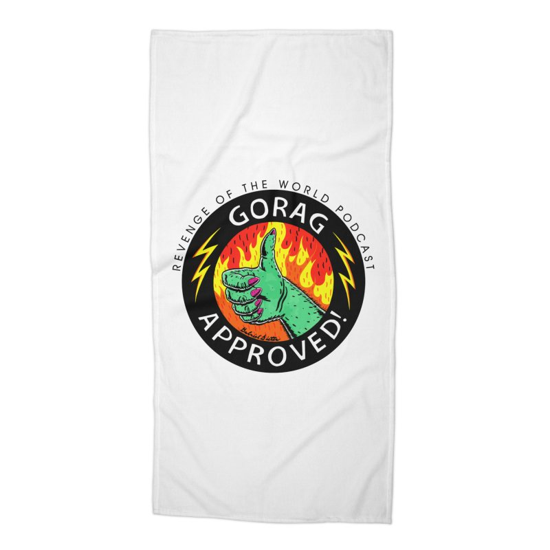 Revenge of the World Podcast - Gorag Approved! Accessories Beach Towel by Gabriel Dieter's Artist Shop