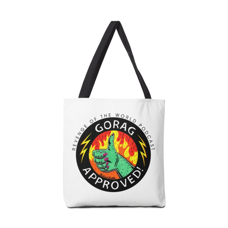 Revenge of the World Podcast - Gorag Approved! Accessories Tote Bag Bag by Gabriel Dieter's Artist Shop