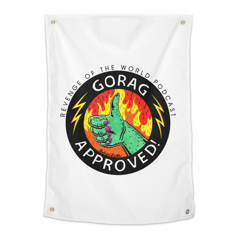 Revenge of the World Podcast - Gorag Approved! Home Tapestry by Gabriel Dieter's Artist Shop