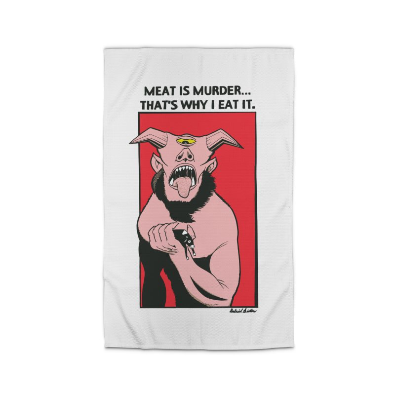 MEAT IS MURDER... Home Rug by Gabriel Dieter's Artist Shop