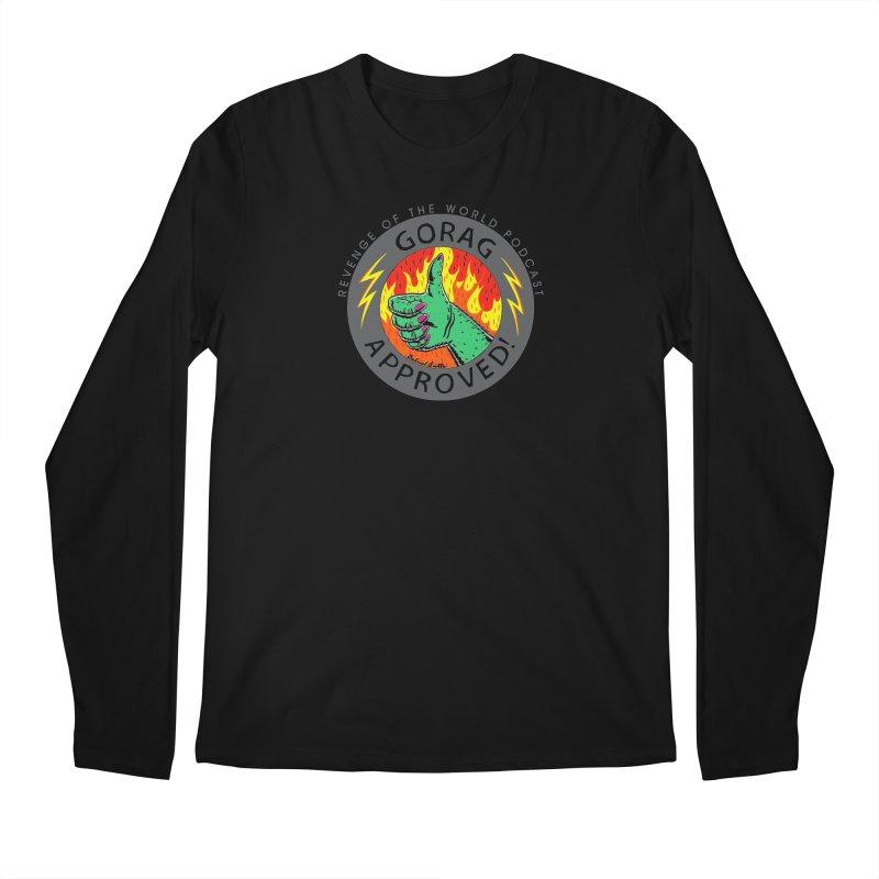 Gorag Approved - BLK Men's Regular Longsleeve T-Shirt by Gabriel Dieter's Artist Shop