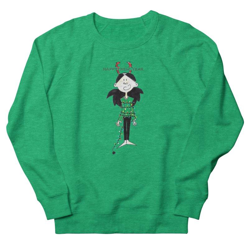 Happy New Year - Bounded with Xmas-tree lights Women's Sweatshirt by Galarija's Artist Shop