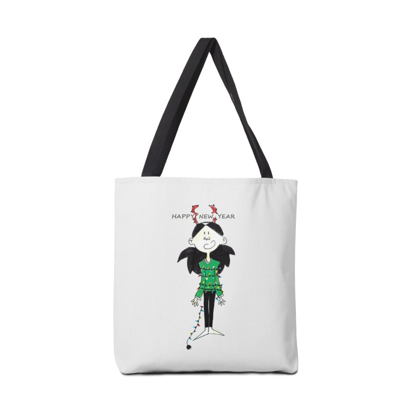 Happy New Year - Bounded with Xmas-tree lights Accessories Bag by Galarija's Artist Shop
