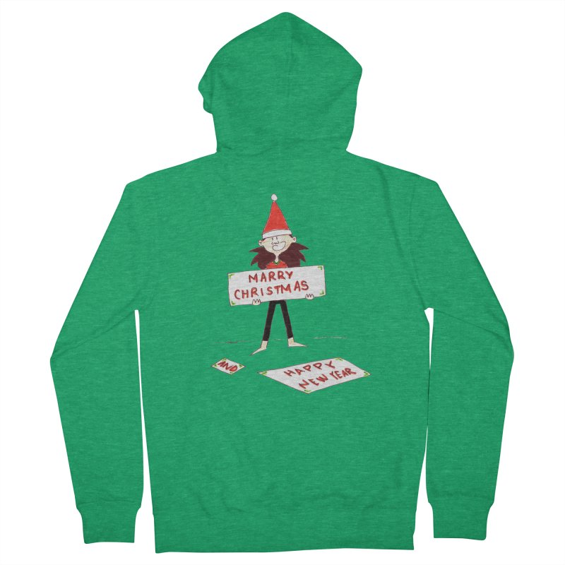 Marry Christmas & Happy New Year - Dwarf Men's Zip-Up Hoody by Galarija's Artist Shop