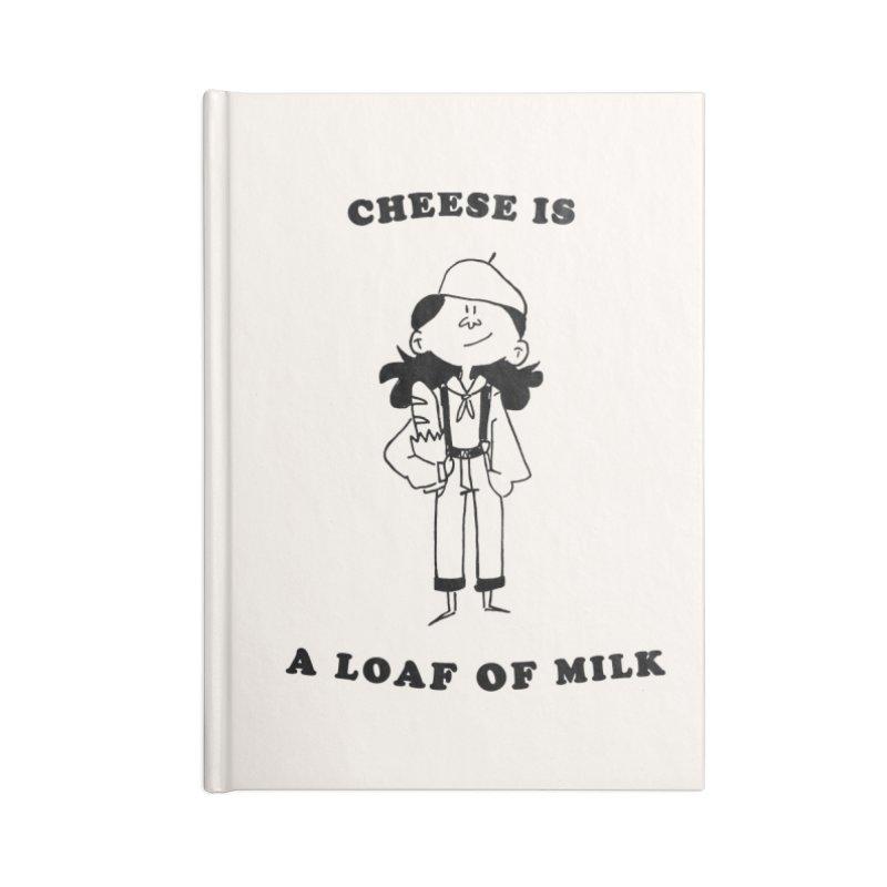 Cheese Accessories Notebook by Galarija's Artist Shop