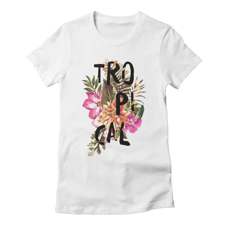 Tropical Women's Fitted T-Shirt by Galaxy Eyes