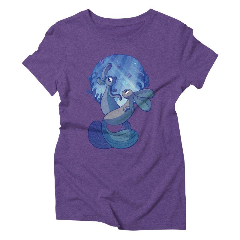Merbuns Women's Triblend T-shirt by galesaur's Artist Shop
