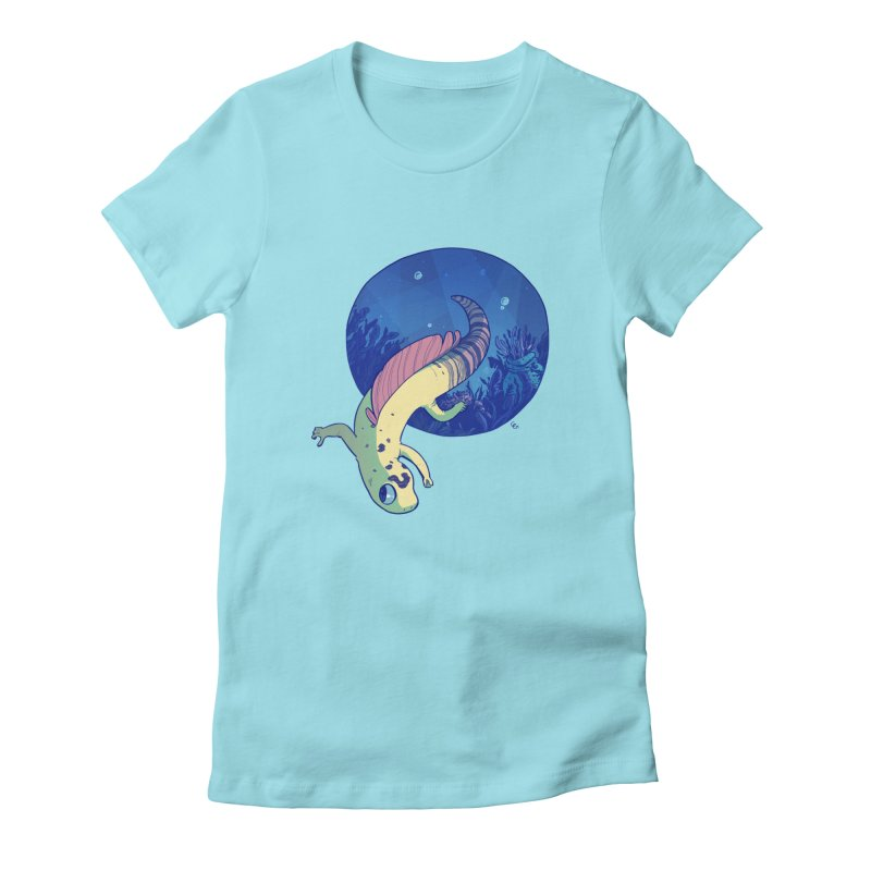 Mergeck Women's Fitted T-Shirt by galesaur's Artist Shop