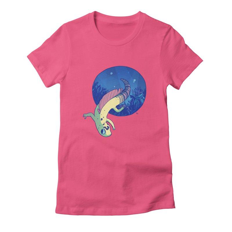 Mergeck Women's Fitted T-Shirt by galesaur's Artist Shop