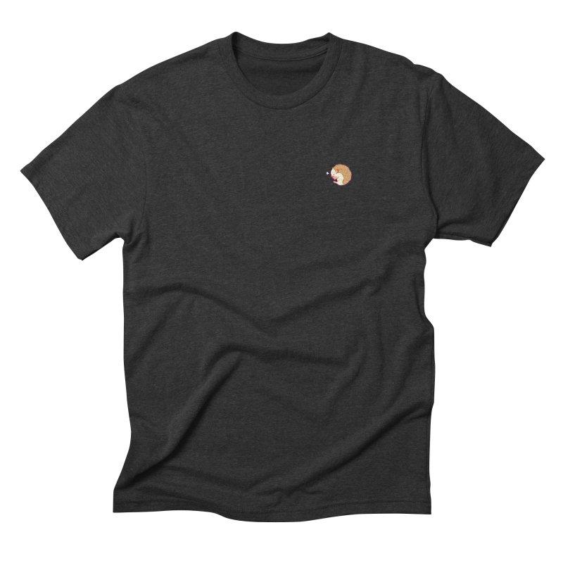 Small Sleepy Hedgie Men's Triblend T-shirt by galesaur's Artist Shop