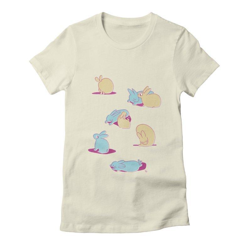 Quiet Bunday Women's Fitted T-Shirt by galesaur's Artist Shop