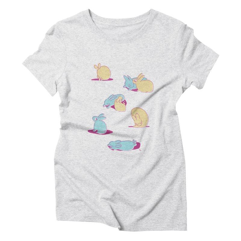 Quiet Bunday Women's Triblend T-shirt by galesaur's Artist Shop