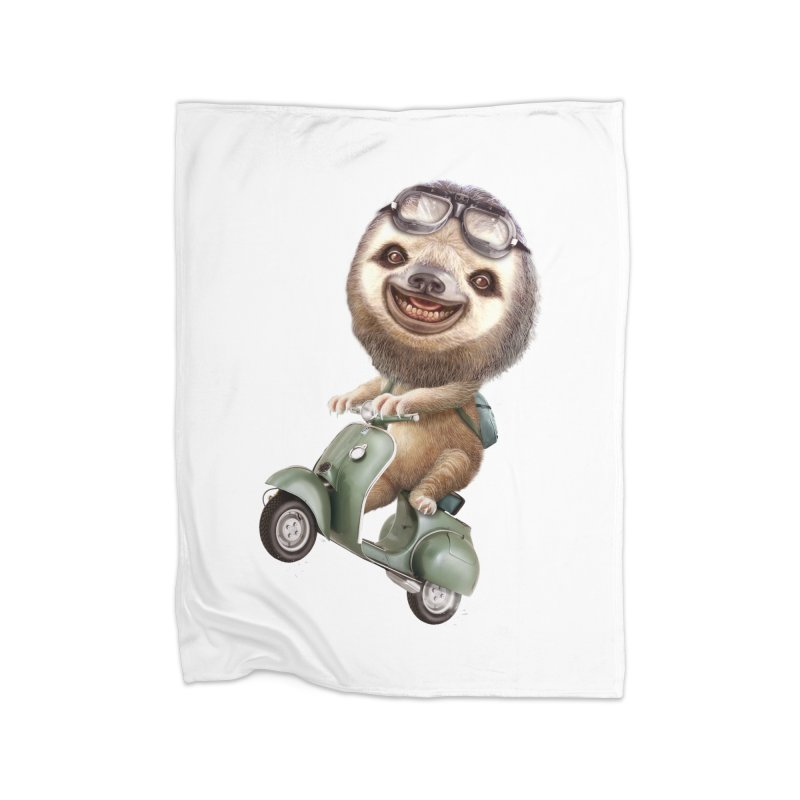 RUNAWAY SLOTH ON SCOOTER   by gallerianarniaz's Artist Shop