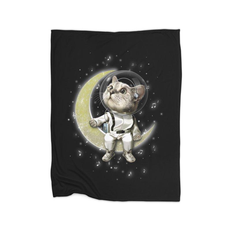 DREAMER CAT Home Fleece Blanket by gallerianarniaz's Artist Shop
