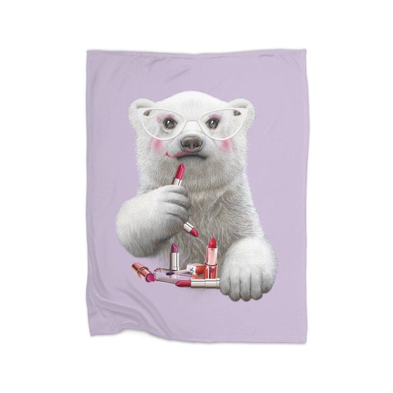 LIPSTCIK PAULA Home Fleece Blanket by gallerianarniaz's Artist Shop