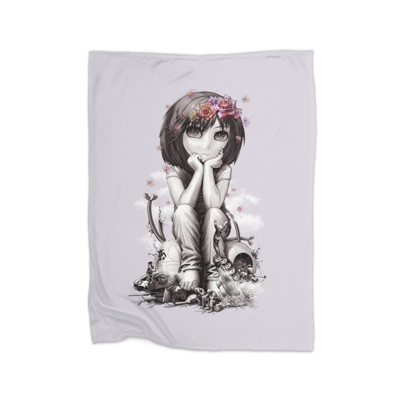 I WANT FREEDOM Home Fleece Blanket by gallerianarniaz's Artist Shop