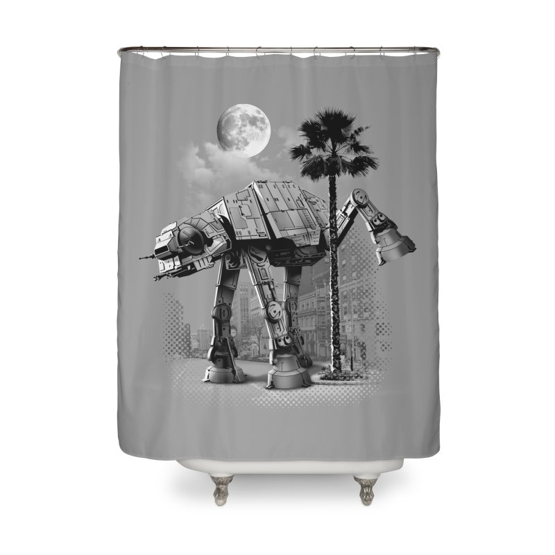 ATAT PEE TIME Home Shower Curtain by gallerianarniaz's Artist Shop