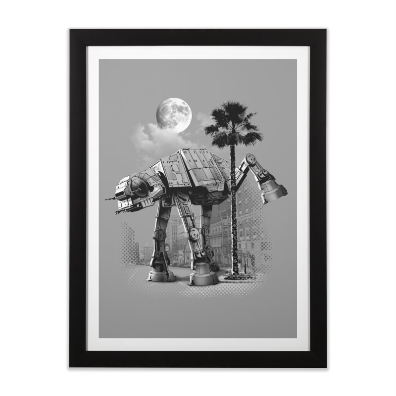 ATAT PEE TIME Home Framed Fine Art Print by gallerianarniaz's Artist Shop