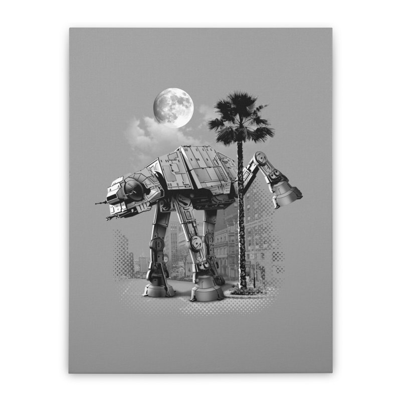 ATAT PEE TIME Home Stretched Canvas by gallerianarniaz's Artist Shop