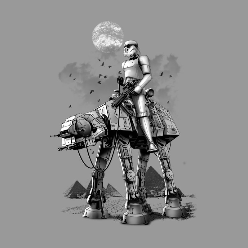 STORMTROOPER RIDING ATAT None  by gallerianarniaz's Artist Shop