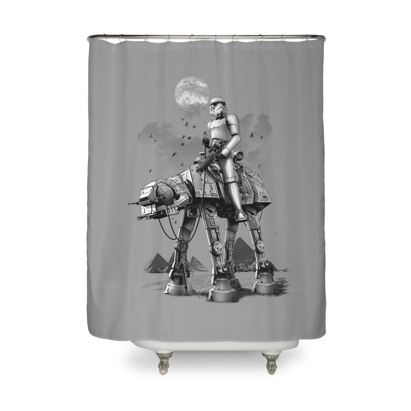 STORMTROOPER RIDING ATAT Home Shower Curtain by gallerianarniaz's Artist Shop