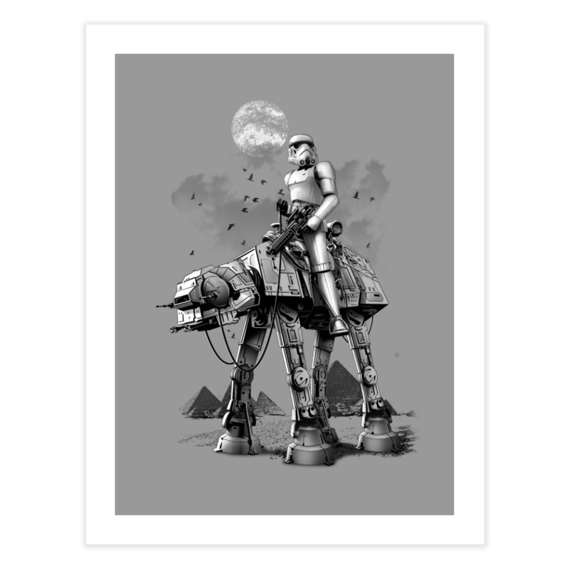 STORMTROOPER RIDING ATAT Home Fine Art Print by gallerianarniaz's Artist Shop