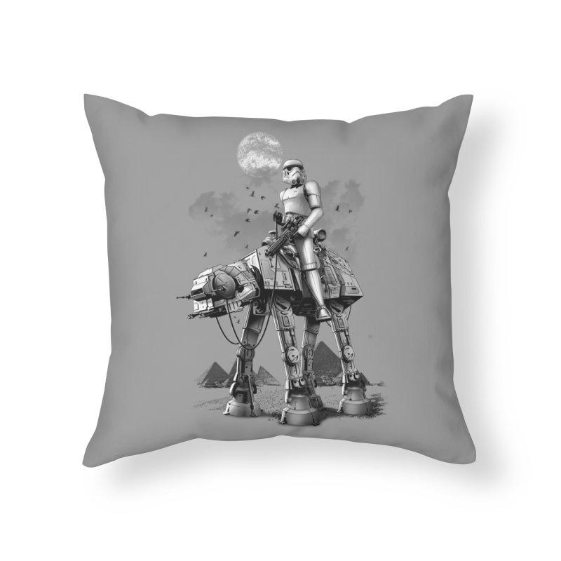 STORMTROOPER RIDING ATAT Home Throw Pillow by gallerianarniaz's Artist Shop