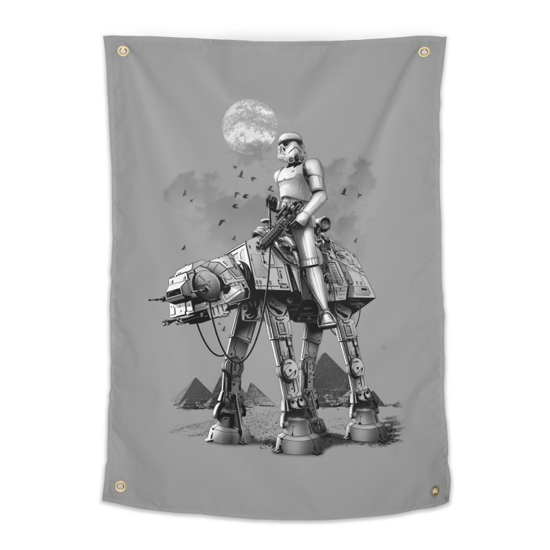 STORMTROOPER RIDING ATAT Home Tapestry by gallerianarniaz's Artist Shop