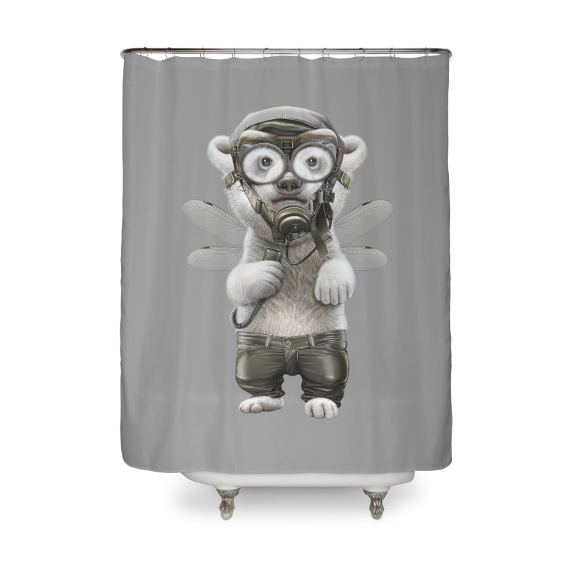 PILOT POLAR Home Shower Curtain by gallerianarniaz's Artist Shop