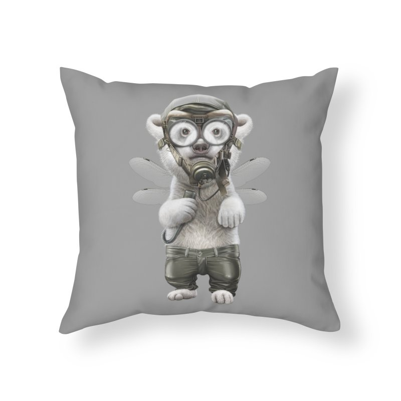 PILOT POLAR Home Throw Pillow by gallerianarniaz's Artist Shop