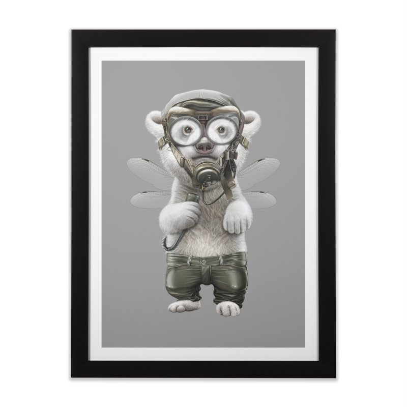 PILOT POLAR Home Framed Fine Art Print by gallerianarniaz's Artist Shop