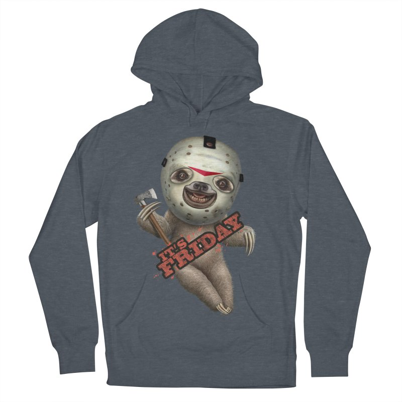 IT'S FRIDAY SLOTH Men's Pullover Hoody by gallerianarniaz's Artist Shop