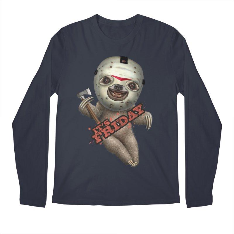 IT'S FRIDAY SLOTH Men's Longsleeve T-Shirt by gallerianarniaz's Artist Shop