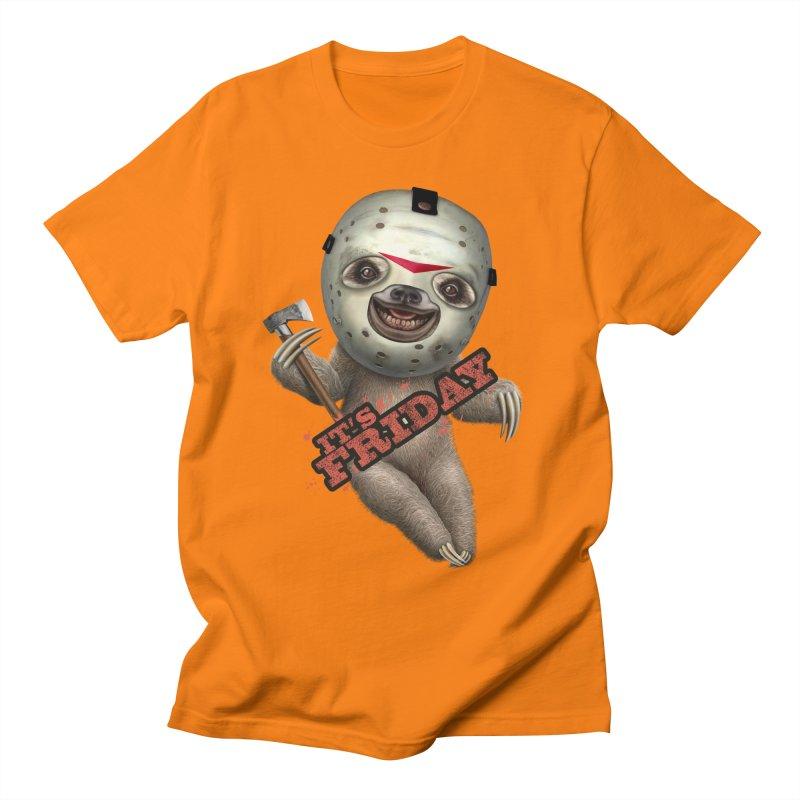IT'S FRIDAY SLOTH Men's T-shirt by gallerianarniaz's Artist Shop