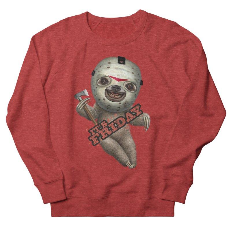 IT'S FRIDAY SLOTH Men's Sweatshirt by gallerianarniaz's Artist Shop