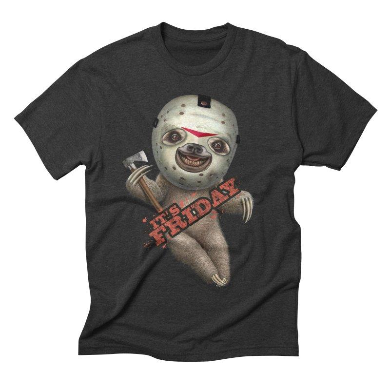 IT'S FRIDAY SLOTH Men's Triblend T-Shirt by gallerianarniaz's Artist Shop