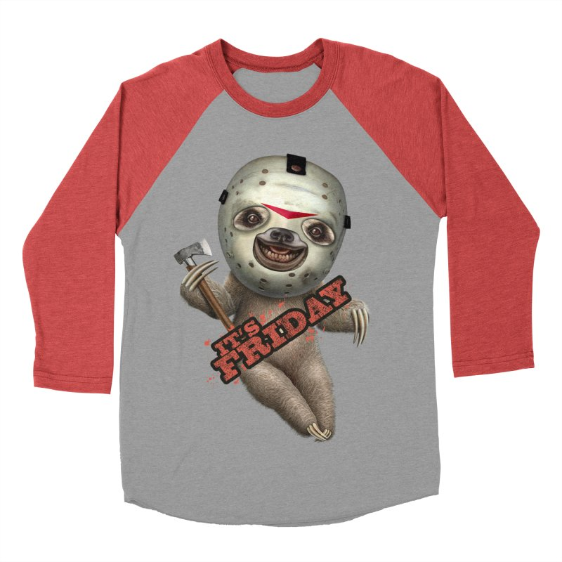 IT'S FRIDAY SLOTH Men's Baseball Triblend T-Shirt by gallerianarniaz's Artist Shop