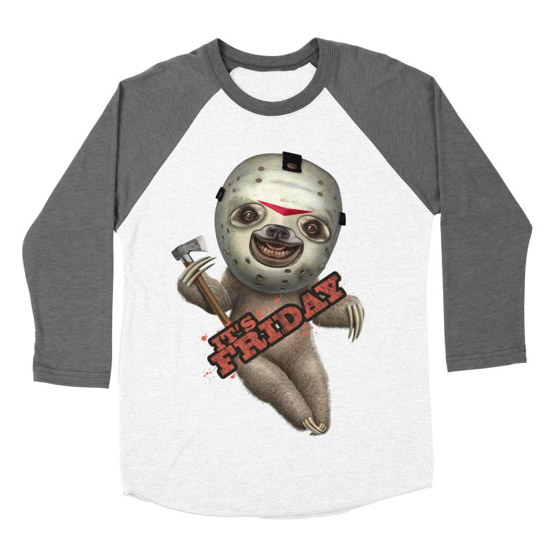 IT'S FRIDAY SLOTH Men's Baseball Triblend T-Shirt by gallerianarniaz's Artist Shop